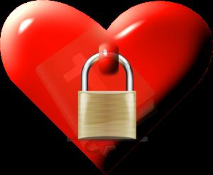 Bible locked in heart